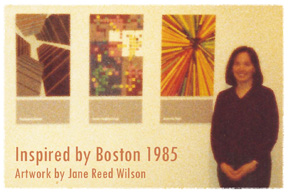 Jane at MFA Thesis Exhibit in Boston 1985